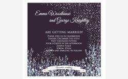 冬挙式の招待状デザイン