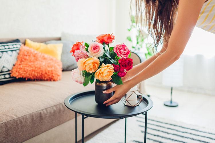 自宅にお花を飾る