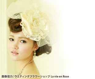 花嫁の髪飾り(お花)