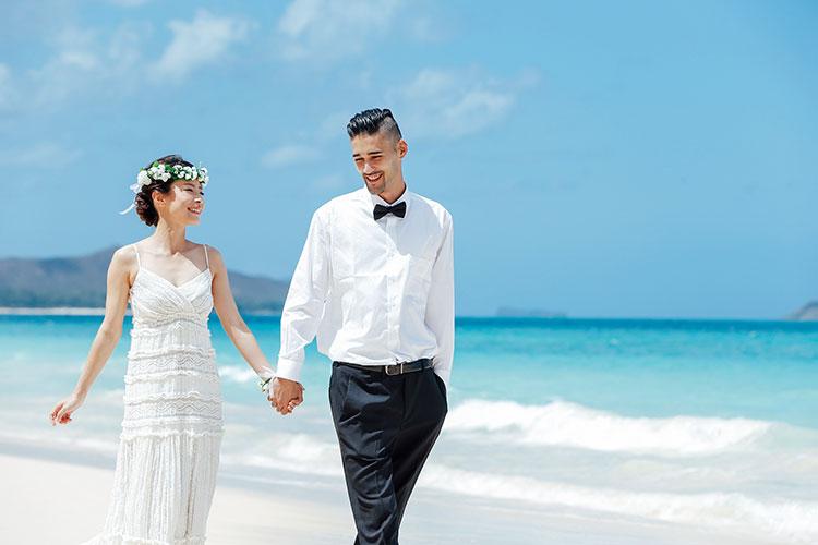 結婚式の前撮り(ロケーションフォト)